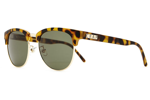 The Nudie Club - Matte Jungle Tortoise - w/ Olive CR-39 Lenses - Sunglasses