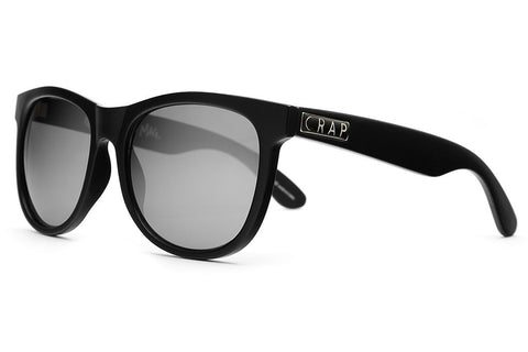 The Nudie Mag - Flat Black - w/ Silver Mirror Lenses - Sunglasses