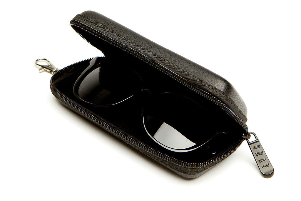 The Nudie Mag - Gloss Black - w/ Polarized Grey Lenses - Sunglasses