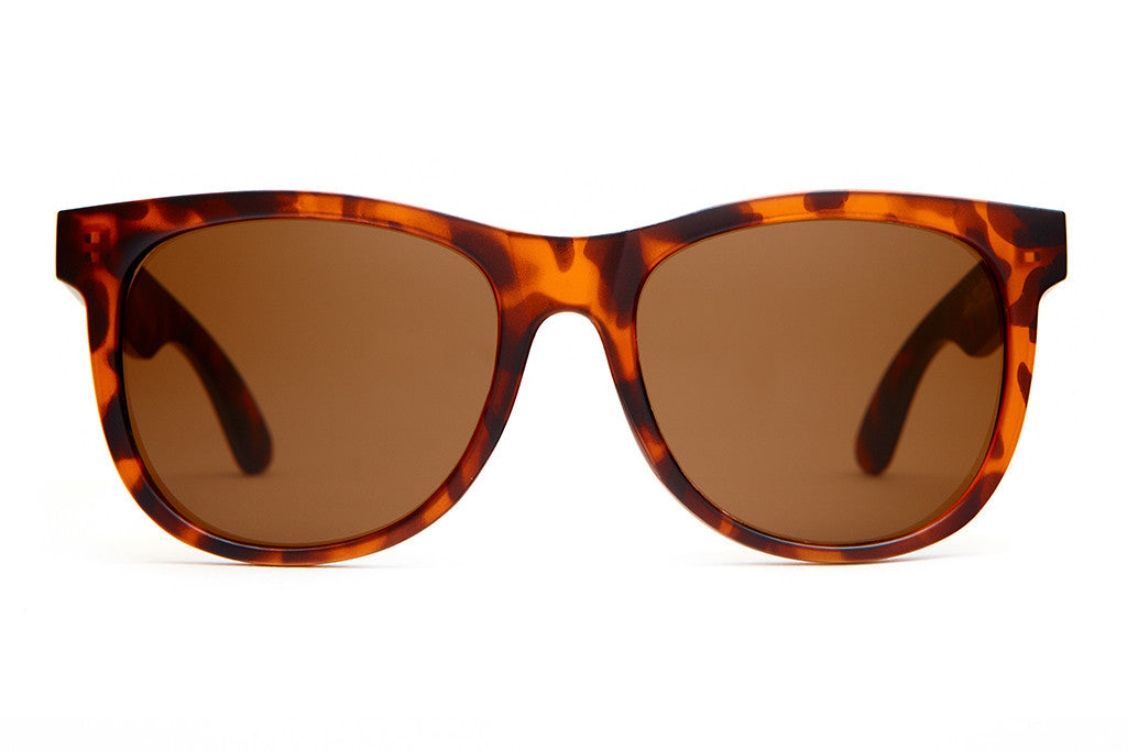 The Nudie Mag - Matte Brown Tortoise - w/ Amber CR-39 Lenses - Sunglasses
