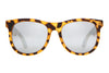 The Nudie Mag - Matte Jungle Tortoise - w/ Silver Mirror Lenses - Sunglasses