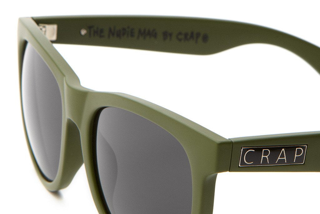 The Nudie Mag - Matte Olive - w/ Grey CR-39 Lenses - Sunglasses