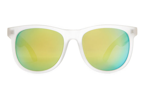The Nudie Mag - Matte Semitranslucent - w/ Reflective Yellow Lenses - Sunglasses
