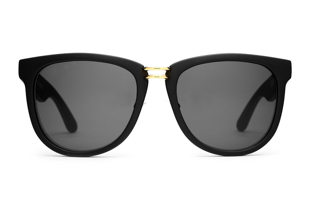 The Nudie Max - Flat Black - w/ Grey CR-39 Lenses - Sunglasses