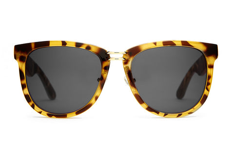 The Nudie Max - Gloss Jungle Tortoise - w/ Grey CR-39 Lenses - Sunglasses