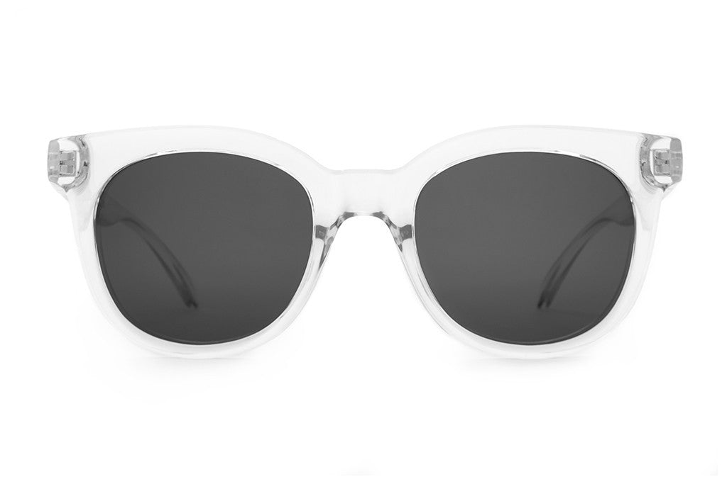 The Pop Control - Crystal Clear - w/ Grey CR-39 Lenses - Sunglasses