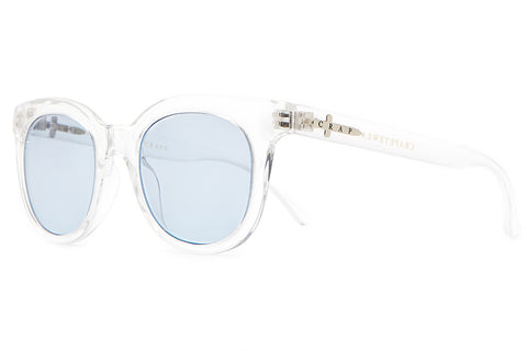 The Pop Control - Crystal Clear - w/ Light Blue Tint CR-39 Lenses - Sunglasses