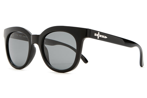 The Pop Control - Gloss Black - w/ Polarized Grey Lenses - Sunglasses