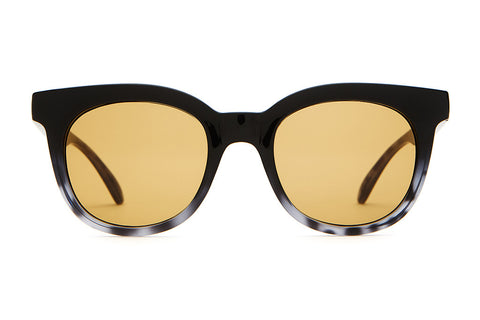 The Pop Control - Gloss Black Gradient & Ash Tortoise - w/ Mustard CR-39 Lenses - Sunglasses