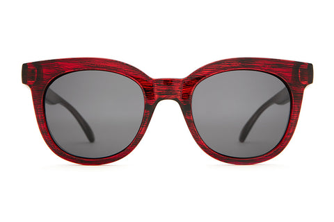 The Pop Control - Gloss Cherry Cola - w/ Grey CR-39 Lenses - Sunglasses