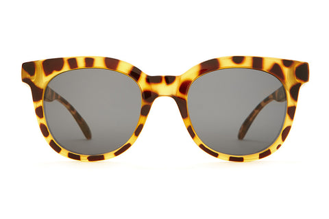 The Pop Control - Gloss Jungle Tortoise - w/ Grey CR-39 Lenses - Sunglasses