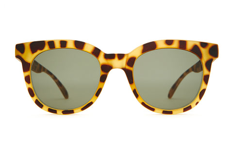The Pop Control - Matte Jungle Tortoise - w/ Olive CR-39 Lenses - Sunglasses