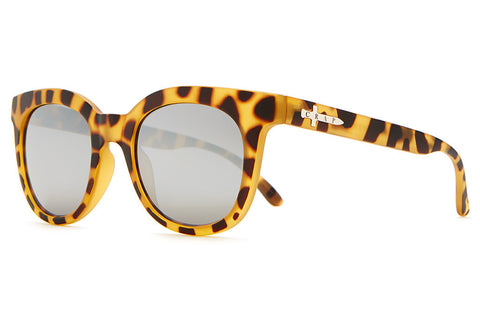 The Pop Control - Matte Jungle Tortoise - w/ Silver Mirror Lenses - Sunglasses