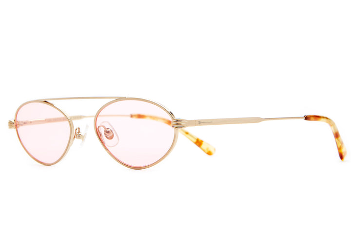 The Proto Riddim - Brushed Gold & Blonde Tortoise - / Pink Tint - Sunglasses