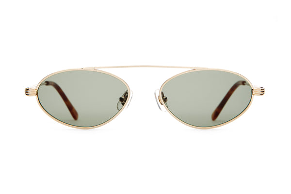 The Proto Riddim - Brushed Gold & Havana Tortoise - / Vintage Green - Sunglasses