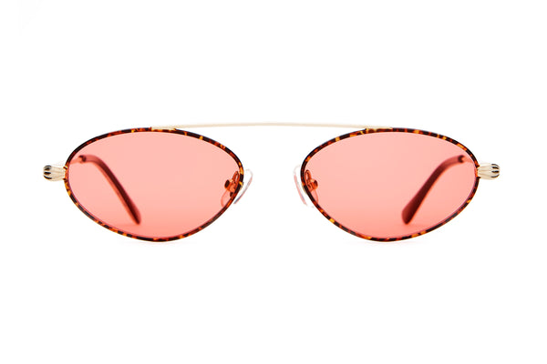 The Proto Riddim - Gold & Leopard - / Cherry Red - Sunglasses