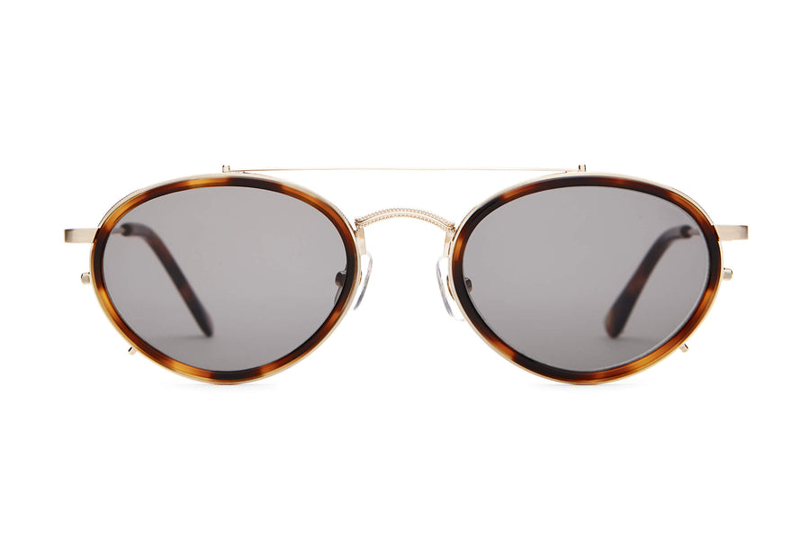 The Riddim Safari - Brushed Gold & Dark Tortoise - / Grey - Sunglasses