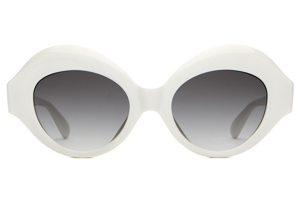 The Saloma Tropic - Gloss White - w/ Grey Gradient CR-39 Lenses - Sunglasses
