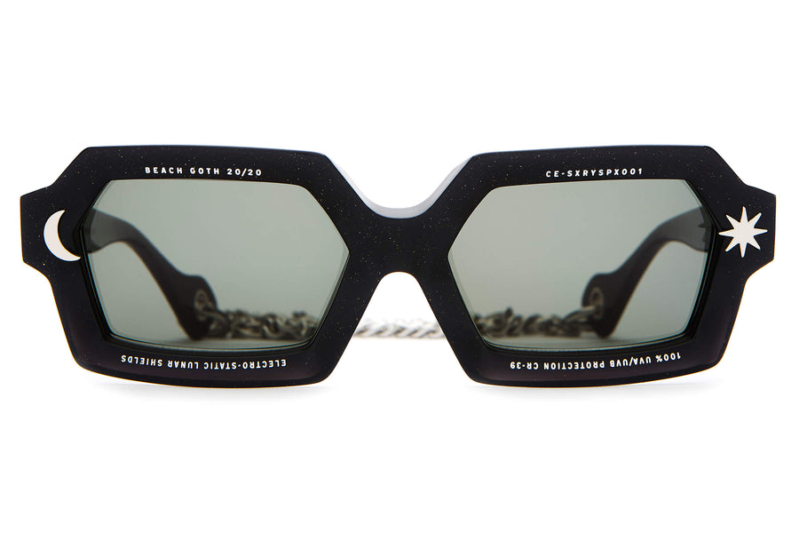 The Sex-Ray Spex by The Growlers - Black Moondust - / Vintage Green - Sunglasses