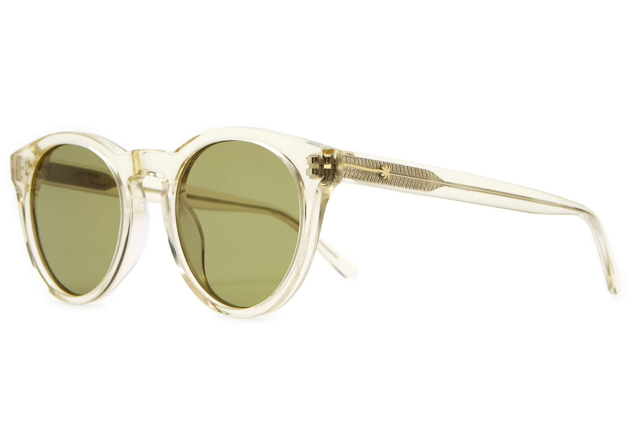 74697fffc Crap® Eyewear | The Shake Appeal Crystal Champagne Round Sunglasses