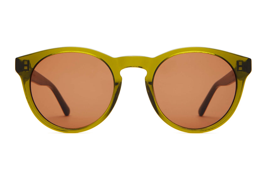 The Shake Appeal - Crystal Olive - / Amber - Sunglasses