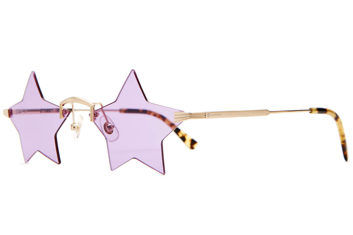 The Star Child - Brushed Gold & Tokyo Tortoise - / Purple Haze - Sunglasses