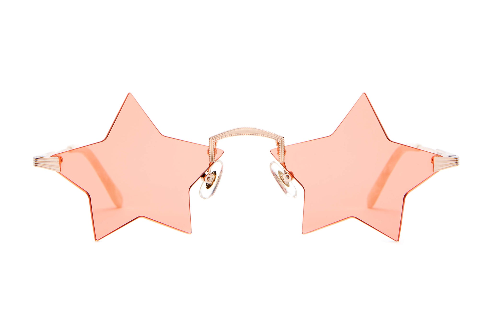 The Star Child - Brushed Rose Gold & Pearl - / Peach - Sunglasses