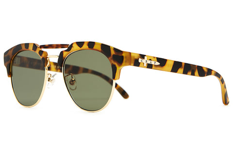 The Stepping Razor - Matte Jungle Tortoise - w/ Zero Base Olive CR-39 Lenses - Sunglasses