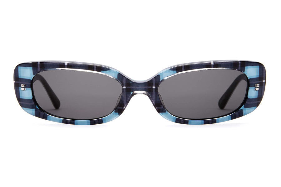The Sugar Rush - Hot Lava Plaid - / Grey - Sunglasses