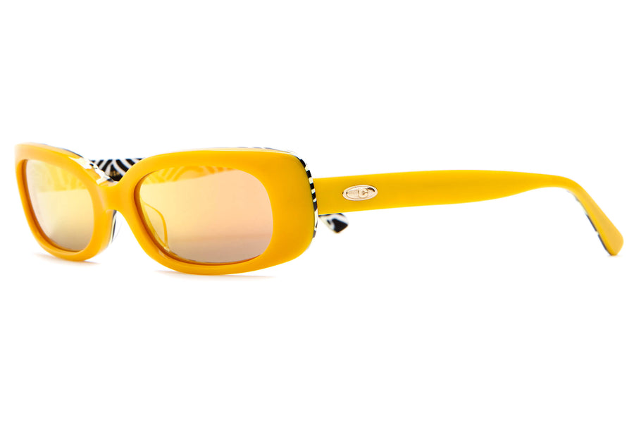 The Sugar Rush - Mango & Zebra - / Reflective Orange - Sunglasses