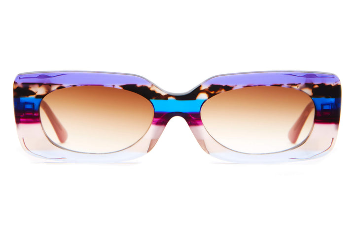 The Supa Phreek - Lilac Stripes - / Amber Gradient - Sunglasses