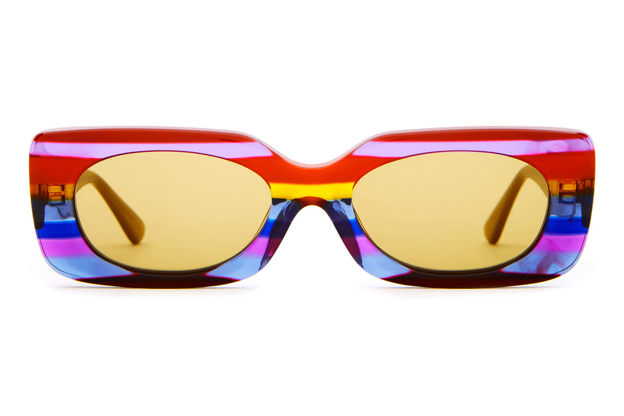 The Supa Phreek - Rainbow - / Mustard - Sunglasses