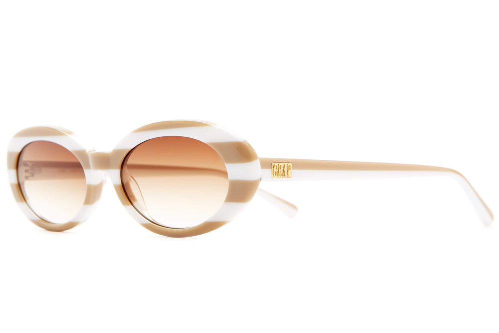The Sweet Leaf - Striped Beige - / Amber - Sunglasses