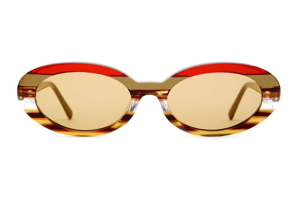 The Sweet Leaf - Earthtone Stripes - / Mustard - Sunglasses