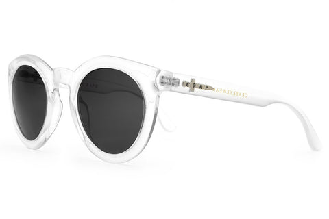 The T.V. Eye - Gloss Crystal Clear - w/ Grey CR-39 Lenses - Sunglasses