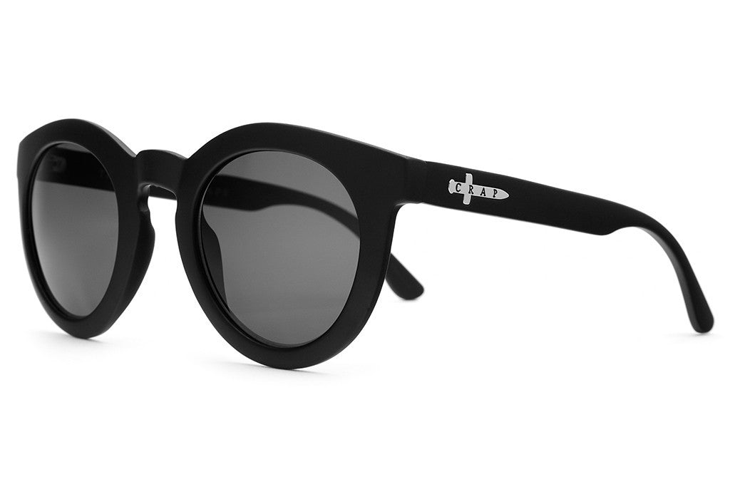 The T.V. Eye - Flat Black - w/ Grey CR-39 Lenses - Sunglasses