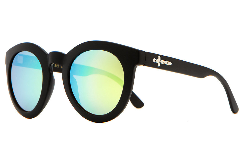The T.V. Eye - Flat Black - w/ Reflective Yellow Lenses - Sunglasses