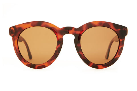 The T.V. Eye - Gloss Brown Tortoise - w/ Polarized Amber Lenses - Sunglasses