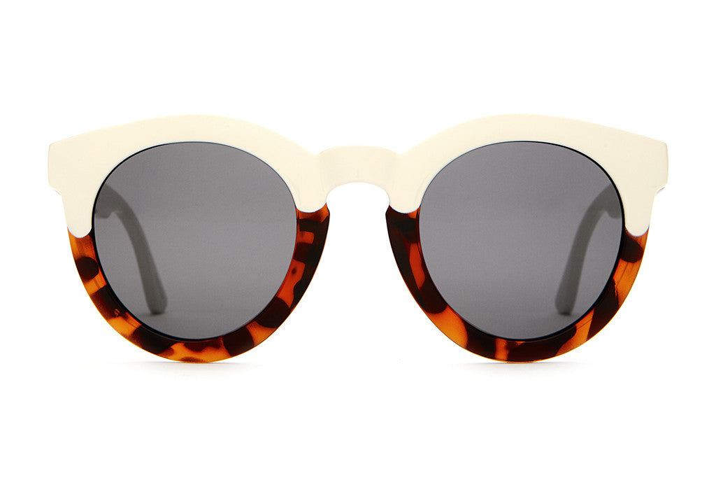 The T.V. Eye - Gloss Brown Tortoise & Cream - w/ Grey CR-39 Lenses - Sunglasses