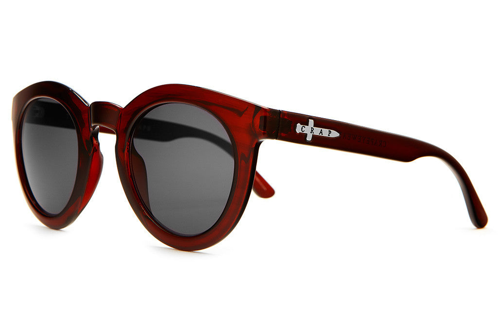 The T.V. Eye - Gloss Cherry Cola- w/ Grey CR-39 - Sunglasses