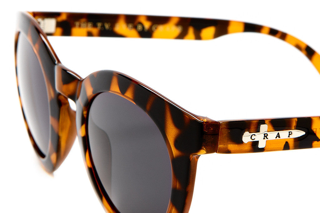The T.V. Eye - Gloss Tiger Tortoise - w/ Grey CR-39 - Sunglasses