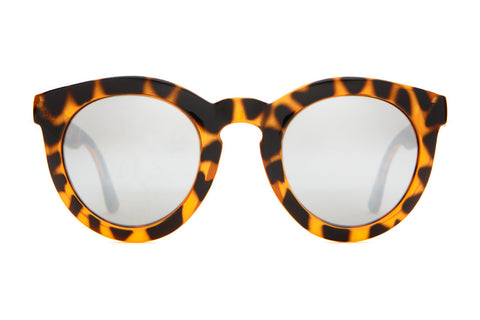 The T.V. Eye - Gloss Tiger Tortoise - w/ Silver Mirror Lenses - Sunglasses