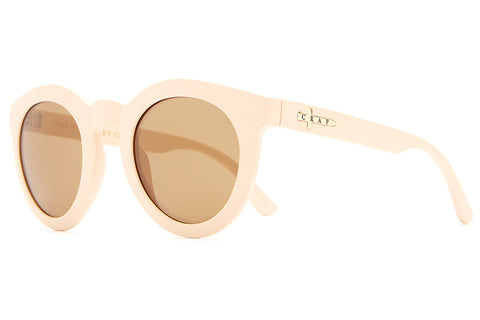 The T.V. Eye - Matte Dusted Rose - w/ Bronze Mirror Lenses - Sunglasses