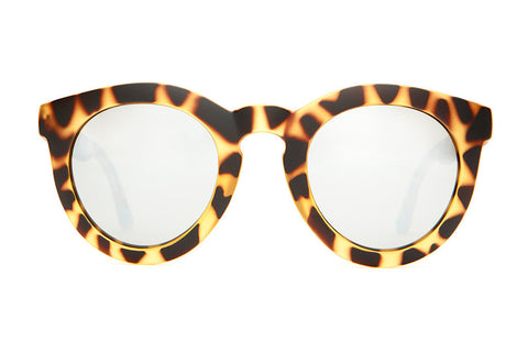 The T.V. Eye - Matte Jungle Tortoise - w/ Silver Mirror Lenses - Sunglasses