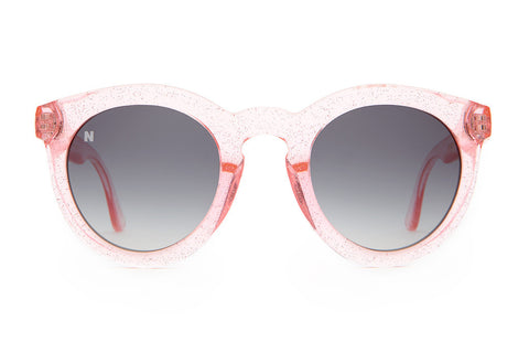 The T.V. Eye - NYLON Magazine Gloss Pink Glitter - w/ Grey Gradient CR-39 - Sunglasses