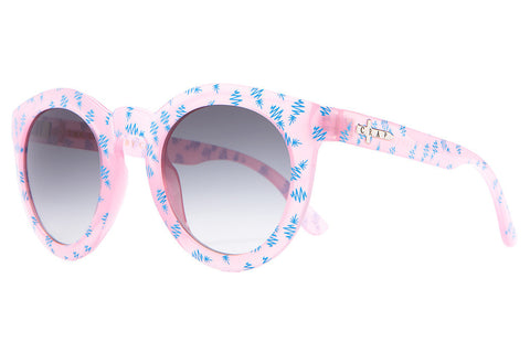 The T.V. Eye - Gloss Semitranslucent Cotton Candy & Blue Pineapples - w/ Grey Gradient CR-39 Lenses - Sunglasses