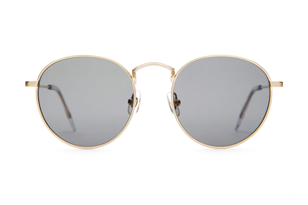 The Tuff Patrol - Brushed Gold & Crystal - / Polarized Grey - Sunglasses