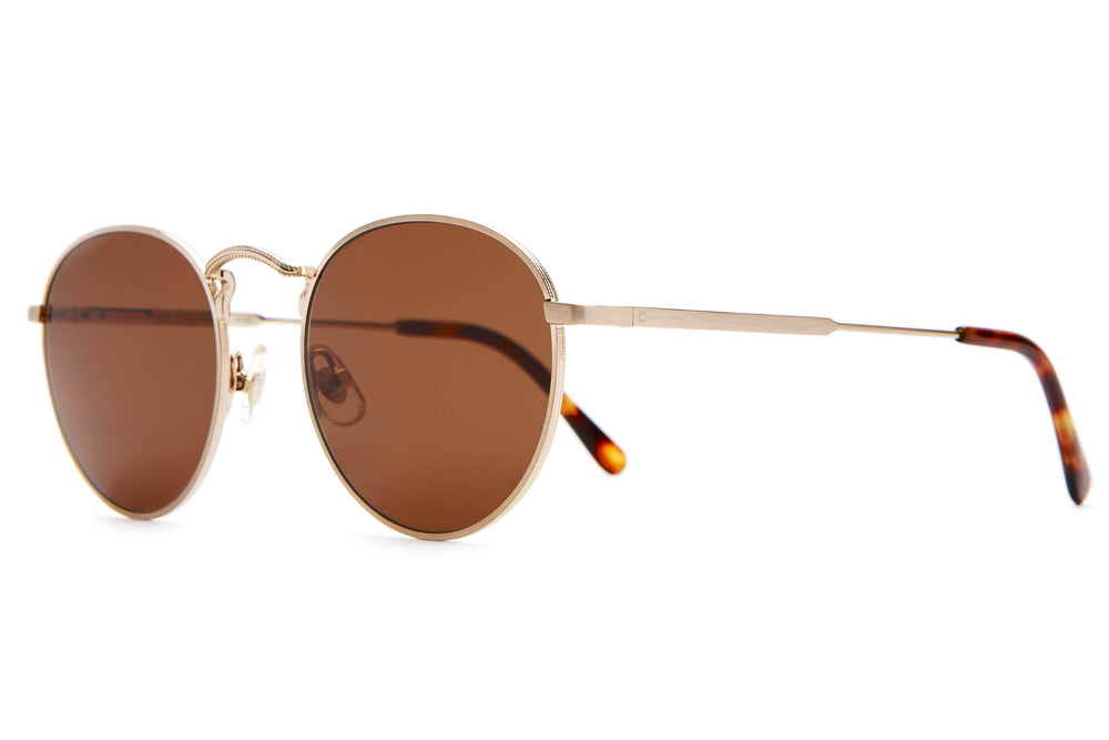 The Tuff Patrol - Brushed Gold & Dark Tortoise - / Amber - Sunglasses