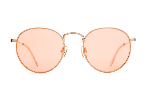 The Tuff Patrol - Brushed Rose Gold Wire & Crystal Rose Tips - w/ Rose Gold Mirror Lenses - Sunglasses