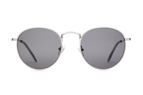 The Tuff Patrol - Brushed Silver & Smoke - / Grey - Sunglasses